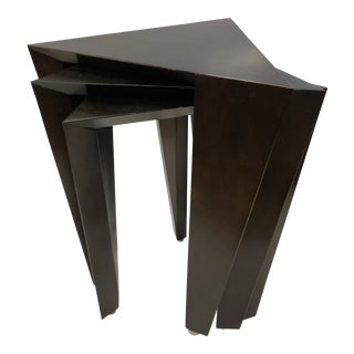 Set of 3 Modern Nesting Tables For Sale