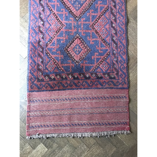 Vintage Mid-Century Hand-Knotted Baluch Runner Rug - 2′1″ × 8′2″ For Sale - Image 4 of 6