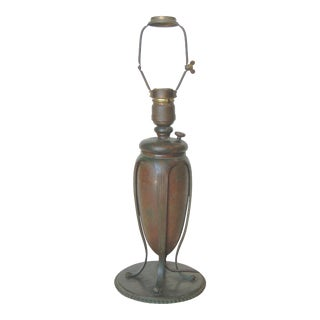 Art Nouveau Tiffany Bronze Table Lamp For Sale