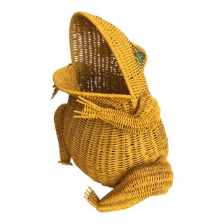 Wicker Frog Basket For Sale