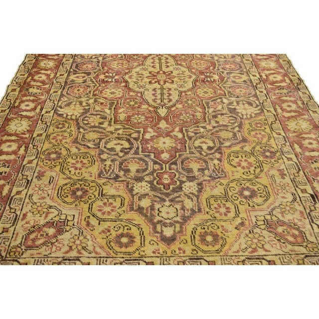 Contemporary 20th Century Rustic Turkish Oushak Accent Rug - 4′4″ × 6′10″ For Sale - Image 3 of 7