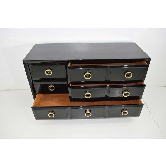 Black Robsjohn-Gibbings for Widdicomb Chest of Drawers in Black Lacquer For Sale - Image 8 of 13