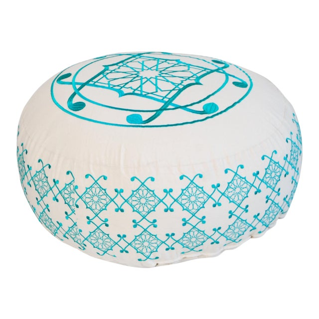 Turquoise Selima Floor Pillow For Sale