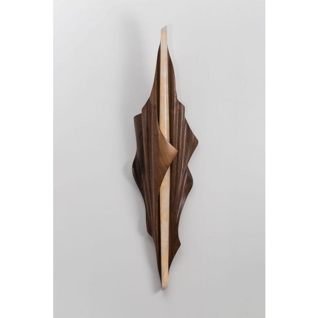 Markus Haase Markus Haase, Black Walnut Single Wrapped Sconce, Usa, 2016 For Sale - Image 4 of 6