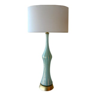 Alfredo Barbini Italian Murano Glass Table Lamp From the 1950's
