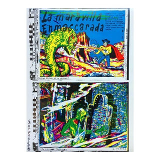 "Gary Panter ""La Maravilla Enmascarada"" Signed Lithograph For Sale"