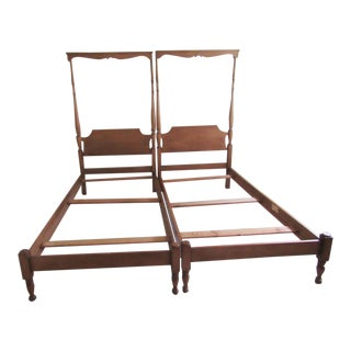 Solid Maple Pennsylvania House Twin Beds - a Pair For Sale