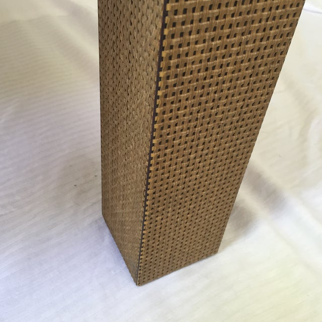 Woven Parsons Coffee Table For Sale - Image 7 of 7