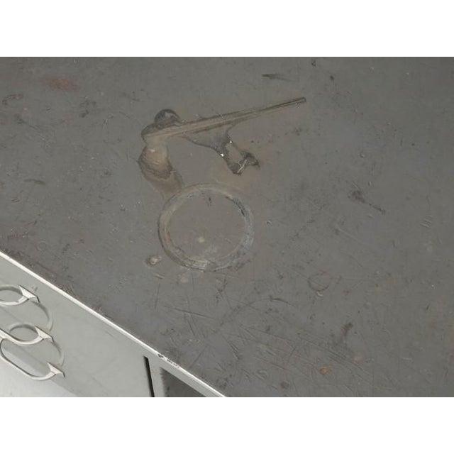 Metal Steel American Industrial Desk in Original Condition For Sale - Image 7 of 12