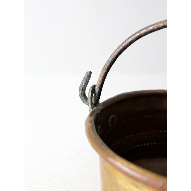 Antique Brass Plated Copper Pot - Image 4 of 8