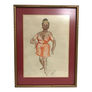 """""""The Dancer"""" Ink & Watercolor"""