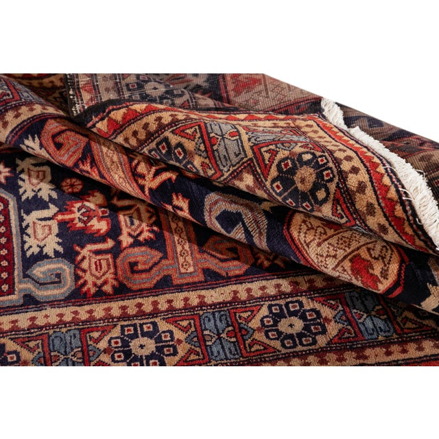 """Vintage North West Persian Rug, 4'7"""" X 10'1"""" For Sale - Image 4 of 9"""