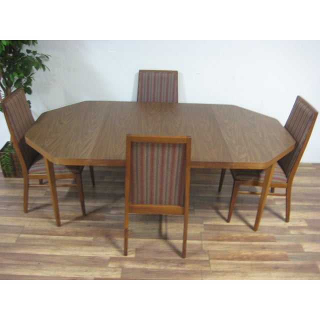 Vintage Dual Leaf Teak Dining Set - Image 6 of 11