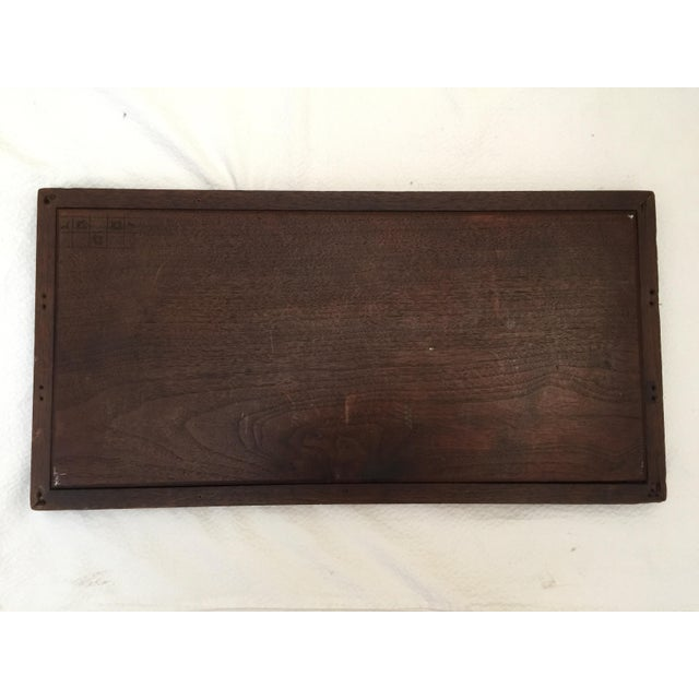 Wood Vintage French Carved Wood Tray For Sale - Image 7 of 7