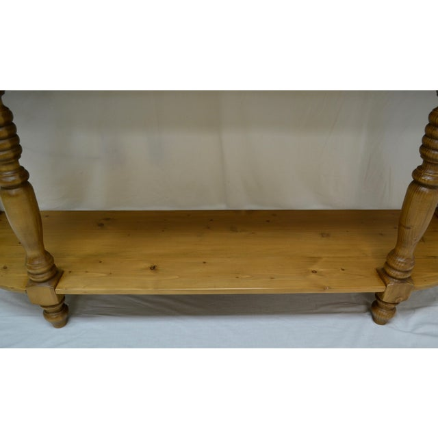 Pine Vintage English Style Pine D-End Server For Sale - Image 7 of 9