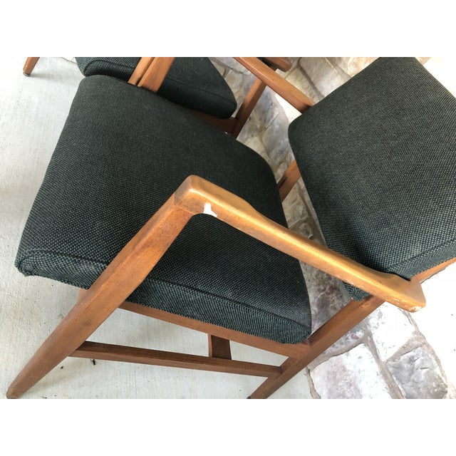 Mid Century Danish Modern Upholstered Arm Chairs - a Pair For Sale - Image 10 of 11