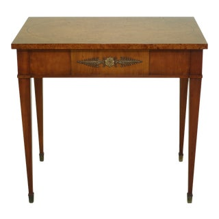 John Stuart Vintage 1 Drawer French Style Occasional Table For Sale