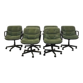 Pollock Executive Armchairs - Set of 6 For Sale