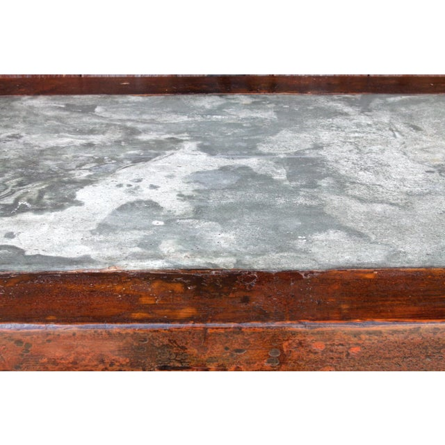 Metal Chinese Scrolled Antique Console For Sale - Image 7 of 10