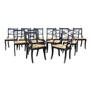 Modern Pottery Barn Dining Chairs- Set of 12 For Sale