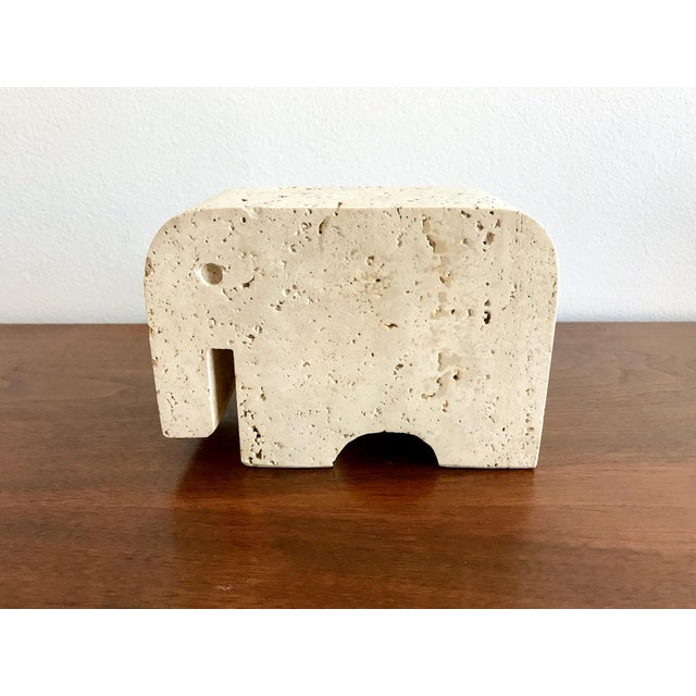 Fratelli Mannelli Travertine Elephant Bookend For Sale - Image 4 of 11