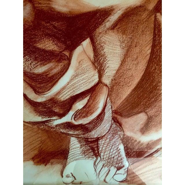 Impressive Very Large Original Drawing of Sculptural Angel For Sale In Philadelphia - Image 6 of 8