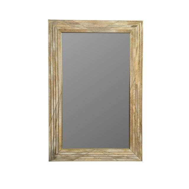 MarGian Studio Dueling Bronze and Parchment Mirror by MarGian Studio For Sale - Image 4 of 4