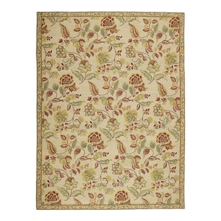 Traditional Floral Elizabeth Moisan Inspired Wool Area Rug For Sale