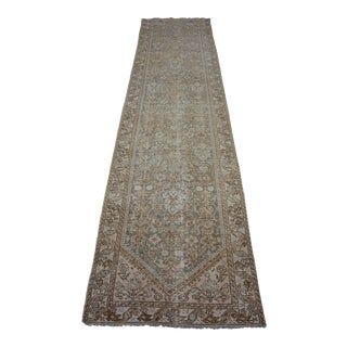 1900s Antique Persian Hand-Knotted Runner Rug For Sale