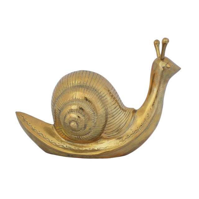 Mid-Century Modern Mid Century Large Brass Snail For Sale - Image 3 of 6