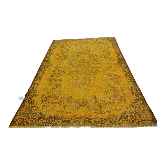 Turkish Handmade Yellow Rug - 5′8″ × 9′6″ - Image 1 of 6
