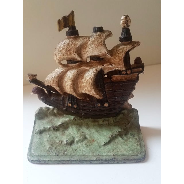 1940s 1940s Traditional Iron Boat Door Stop For Sale - Image 5 of 5