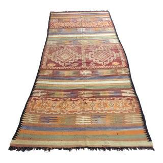 Moroccan Vintage Tribal Kilim Rug, Circa 1960 For Sale
