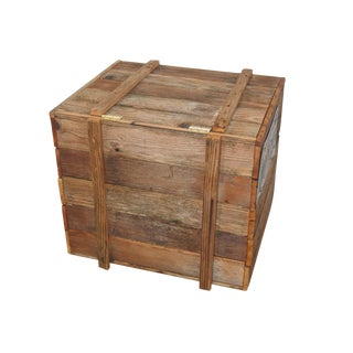 Rustic Wooden Box For Sale