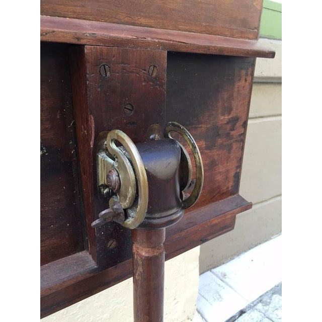 Georgian Mahogany Adjustable Dictionary / Music Stand With Carved Shoe Feet - Image 5 of 9