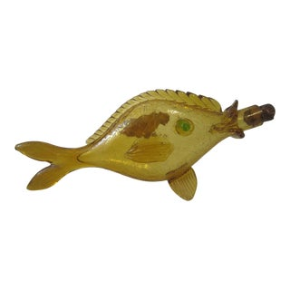 1950s Italian Glass Fish Decanter For Sale