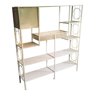Frederick Weinberg Wrought Iron Etagere For Sale