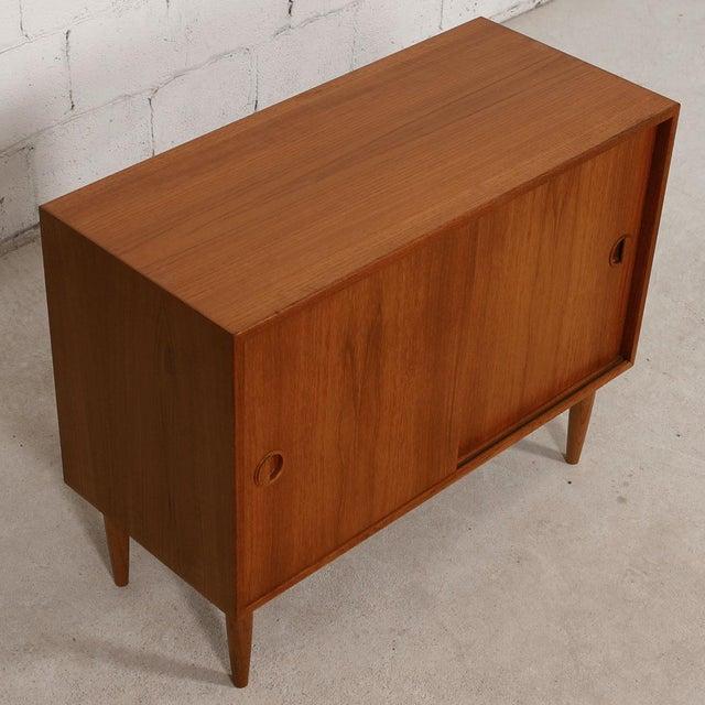 Petite Danish Modern Teak Bar Cabinet - Image 10 of 10