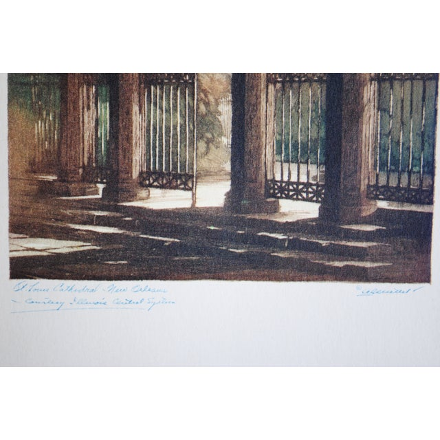 1940s New Orleans Print, St. Louis Cathedral - Image 6 of 7