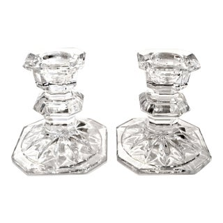 Mikasa Slovenia Crystal Candlestick Holders - a Pair For Sale