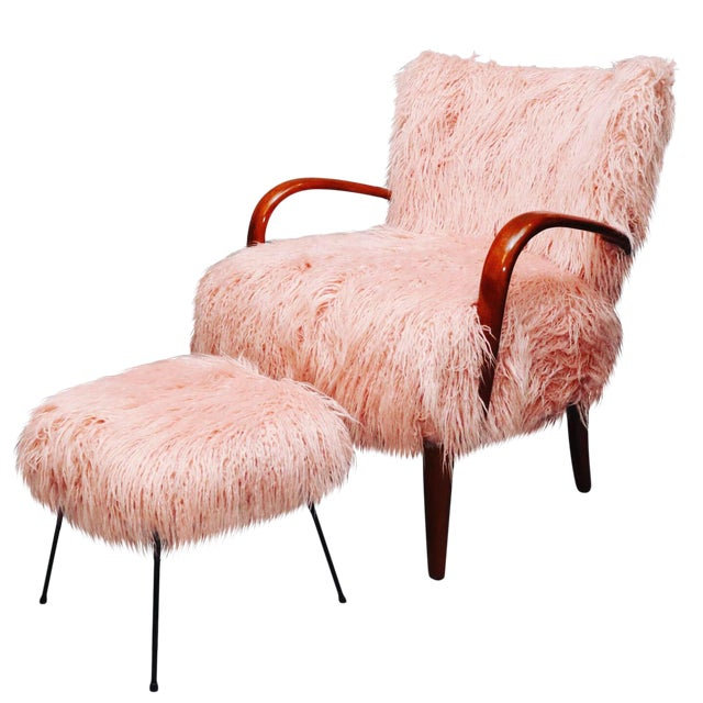 Mid-Century Curated Danish Curved Arm Lounge Chair For Sale