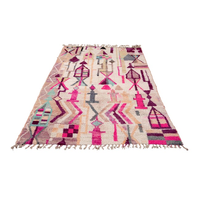 Vintage Azilal Moroccan Wool Rug For Sale - Image 11 of 12