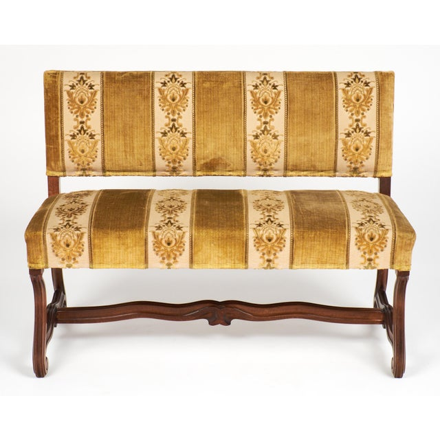 Late 19th Century 19th Century Louis XIV Style Carved Bench For Sale - Image 5 of 9