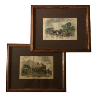 Framed 19th Century Agricultural Prints - A Pair For Sale