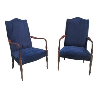 American New England Federal Style Arm Chairs - a Pair For Sale