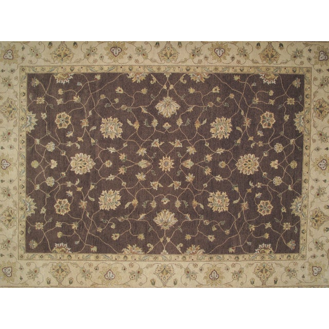 "Islamic Brown Zeigler Carpet -- 9'2"" x 12'5"" For Sale - Image 3 of 5"