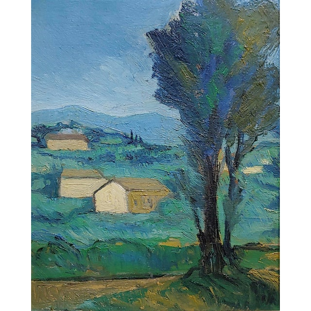 Italian Italian Countryside - 1920s Oil Painting For Sale - Image 3 of 8