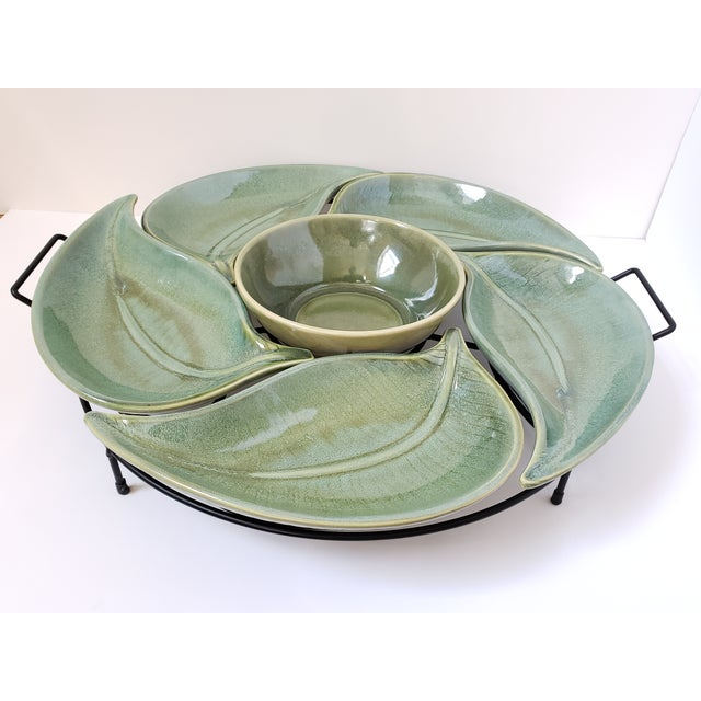 American Atelier Banana Leaf Stoneware Serving Tray For Sale - Image 13 of 13