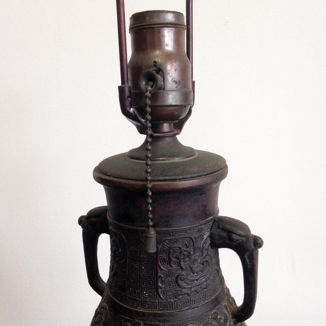 Antique Japanese Lamp - Image 3 of 6