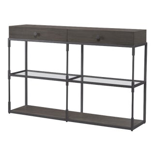 Century Furniture Westport Double Console, Mink Grey For Sale